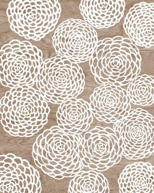 Woodgrain Faux Bois White Mum Flower Floral Art Print - 8 x 10 - Mums the Word