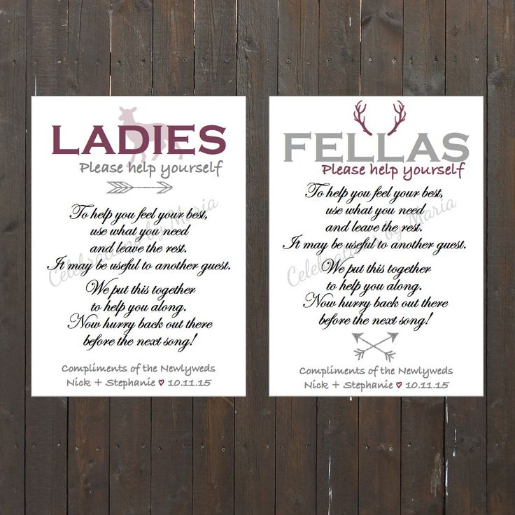 1000 Ideas About Wedding Bathroom Signs On Pinterest