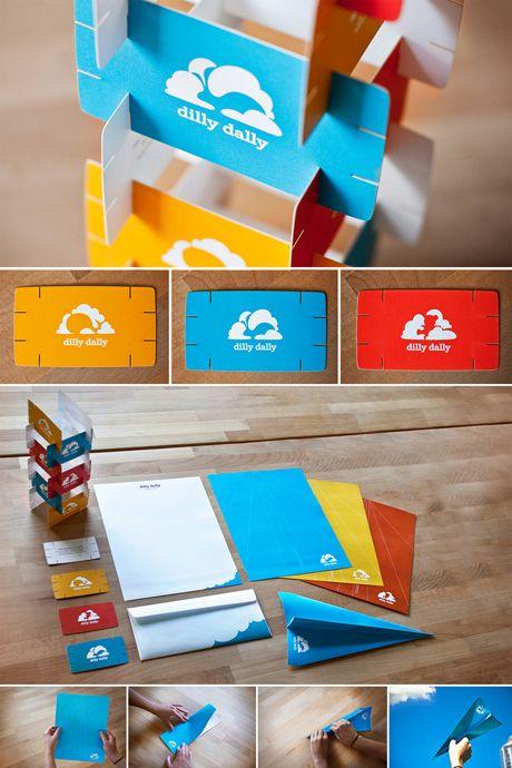 tarjetas de presentacion dilly dally Diseños de tarjetas de presentación creativas