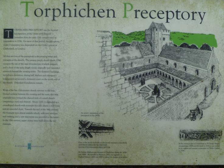 Torphichen Preceptory - Information Board