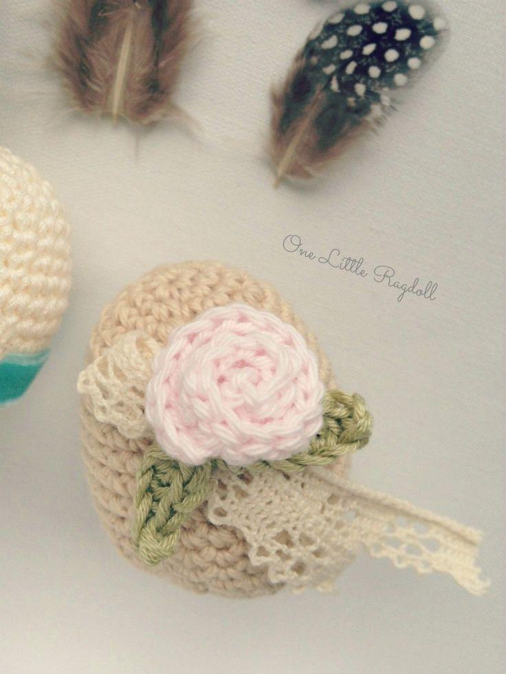 One Little Ragdoll * crochet egg * crochet easter egg