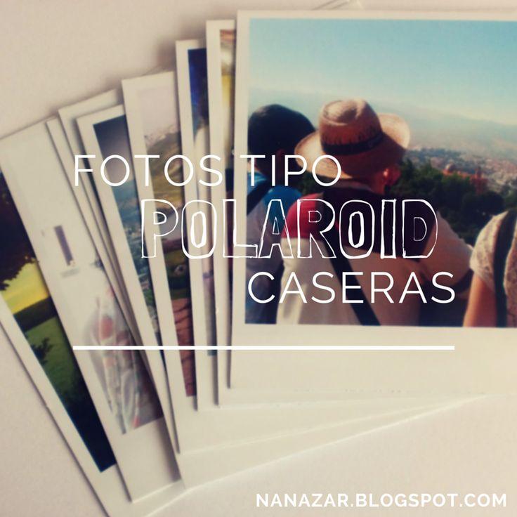 Nanazar: Fotos tipo Polaroid en casa