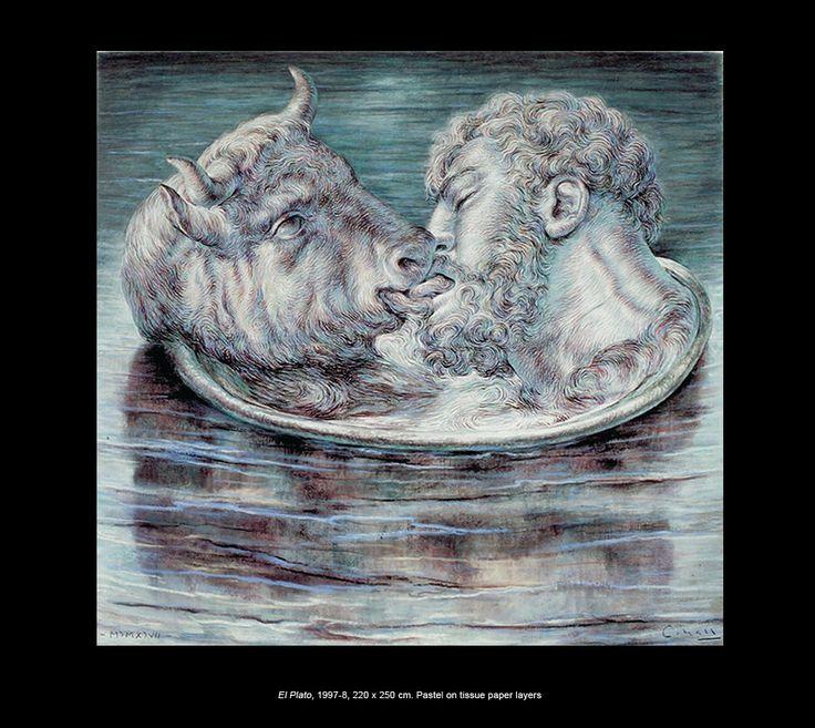 Ricardo Cinalli - El Plato, 1997-8, 220 x 250 cm. Pastel on tissue paper layers: