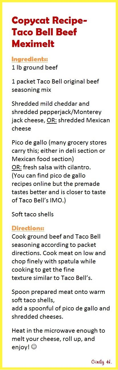The 25+ best Taco bell recipes ideas on Pinterest | Taco bell ...