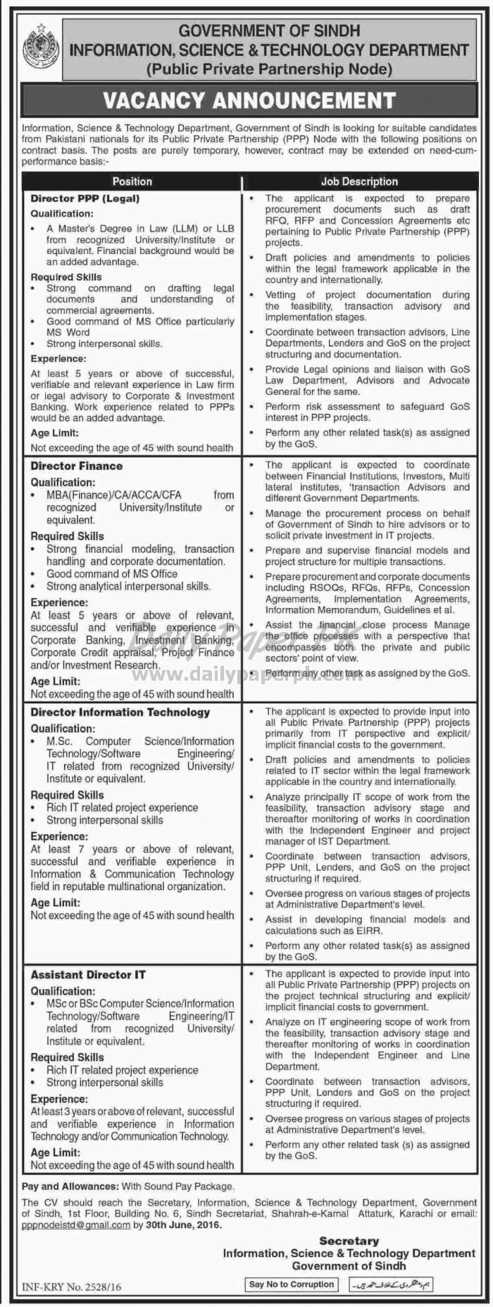 New Jobs In Vertex Institute Of Science And Technology  April