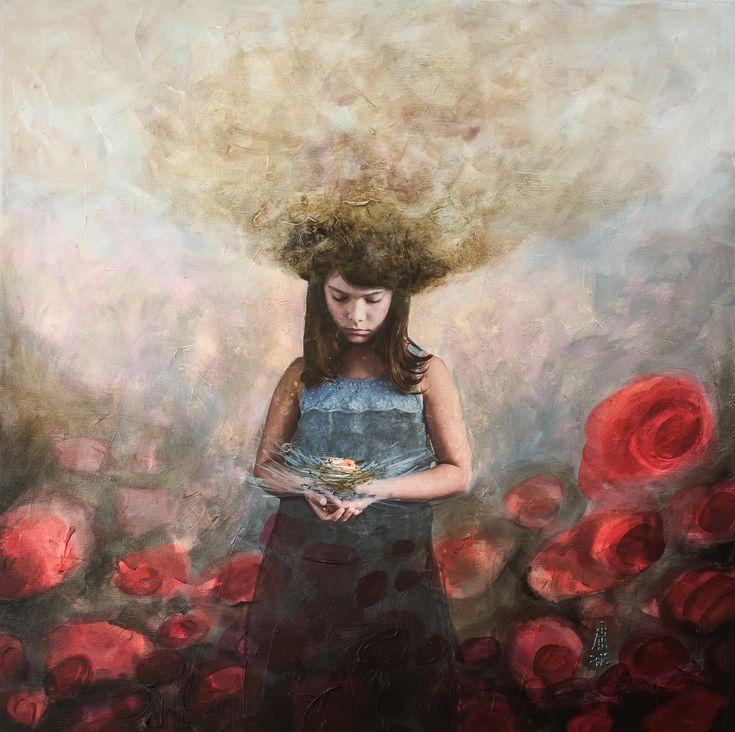 Hanna by Andreia IOana Cismasiu mixed media/canvas 60/60 cm intro-spections - reinterpretations 2018