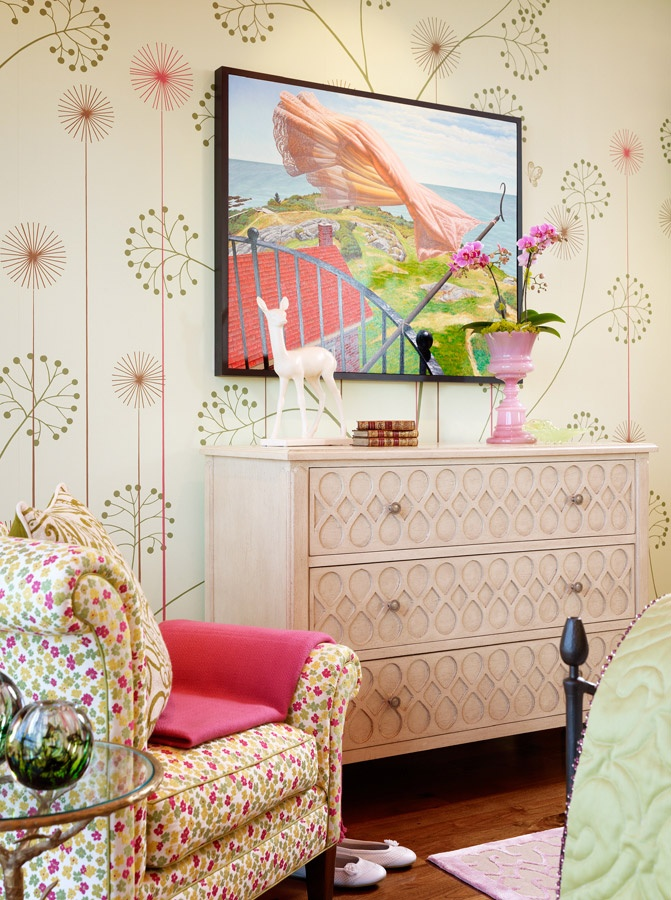 Exceptional Modern Floral Mural. Interior Design, Jay Jeffers. Big Girl BedroomsShabby  Chic ... Great Ideas