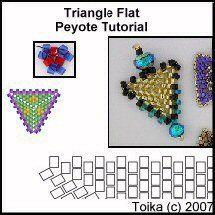 Triangle Flat Peyote Tutorial at Bead-Patterns.com