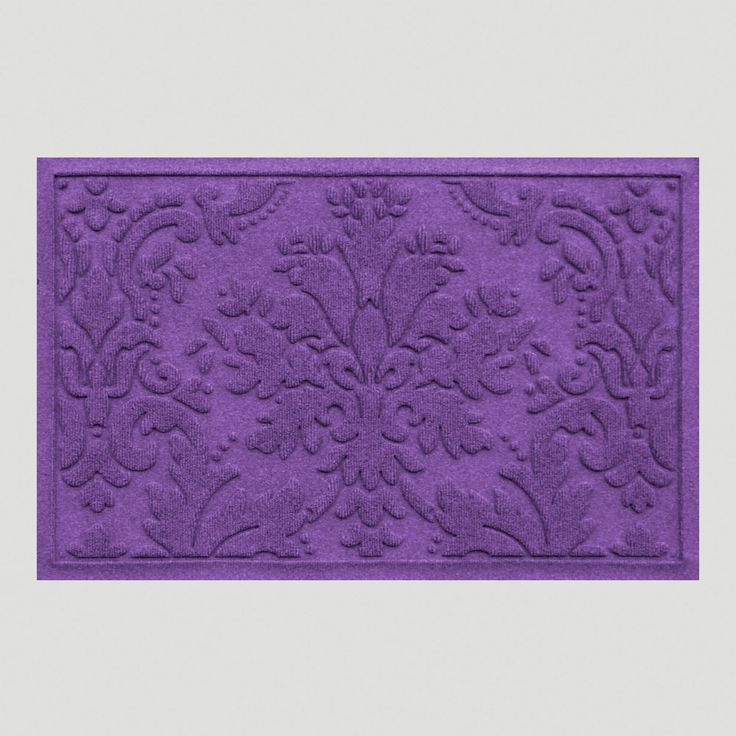 Purple Brocade WaterGuard Doormat | World Market- bright purple door mat?