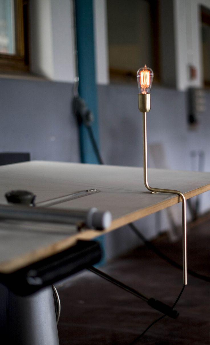 Kavalier table lamp in brass from Rubn, design by Niclas Hoflin.