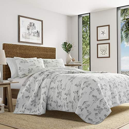 Tommy Bahama Brolly Beach Quilt Set Twin Pastel Grey Best
