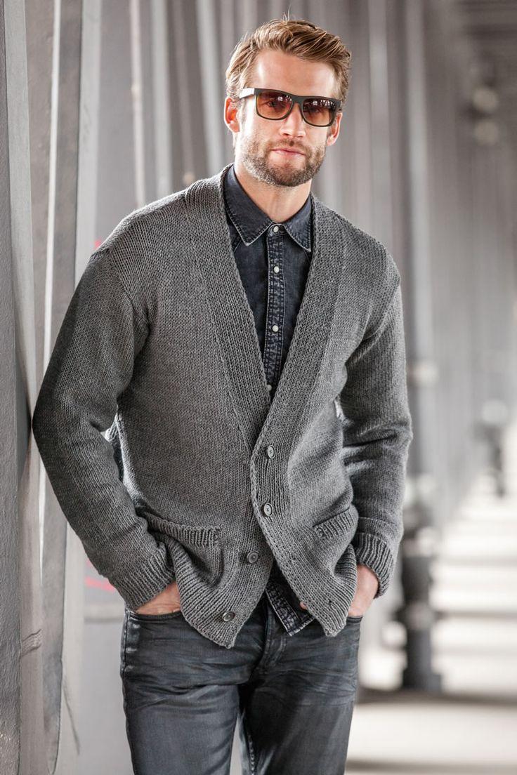 Lana Grossa CARDIGAN Cool Wool Big - FILATI Handstrick No. 57 (Herbst/Winter 2014/15) - Modell 41   FILATI.cc WebShop