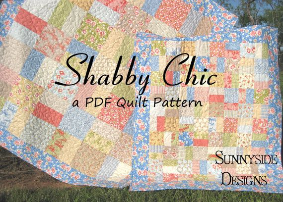 Layer Cake Quilt Pattern Shabby Chic Charm Pack Moda
