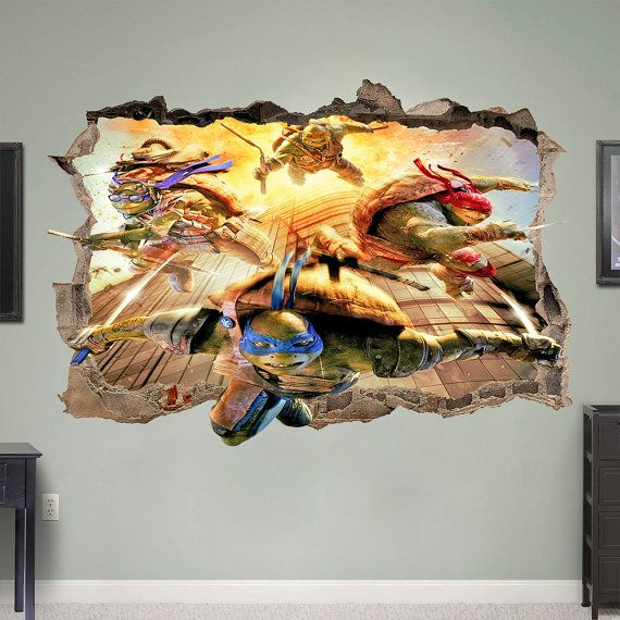 Best Wall Decals From Around The World Images On Pinterest - Wall decals carscartoon cars break through wall art mural decor sticker cracked