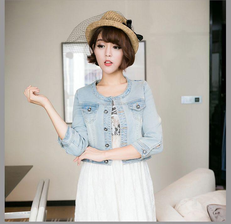 Women Cute Denim Classical Jacket