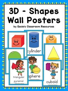 3D Shapes Posters