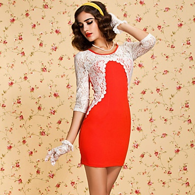 TS Lace Sleeve Bodycon Dress – US$ 44.99 I LOVE the gloves!!