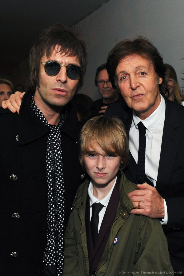 Liam Gallagher, Gene Gallagher and Sir Paul McCartney attend a gala screening of Magical Mystery Tour at The BFI Southbank on October 2, 2012 in London, England.
