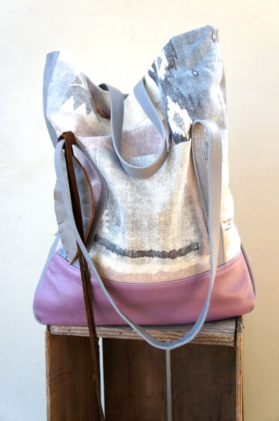 NEW STYLE///Lu Lu Tote in Southwestern Fabric with by arebycdesign, $178.00