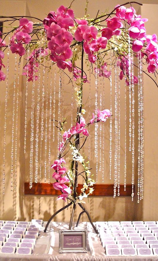 Pink Wedding Ideas. Pink Orchid Tree  http://www.hollywoodcandygirls.com/