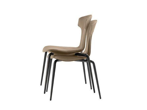 montera stackable chair by poltrona frau design roberto lazzeroni