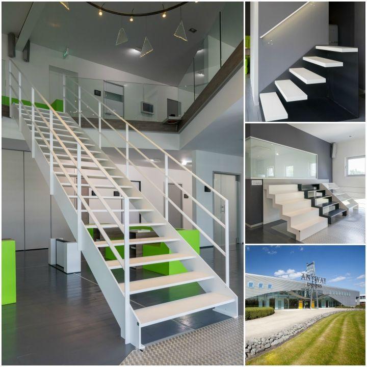 Moderne trappen op maat van genico anyway doors metalen trappen pinterest deuren - Redo houten trap ...