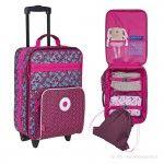 Lässig Kinder Trolley Reisetasche Koffer 4Kids Blossy pink