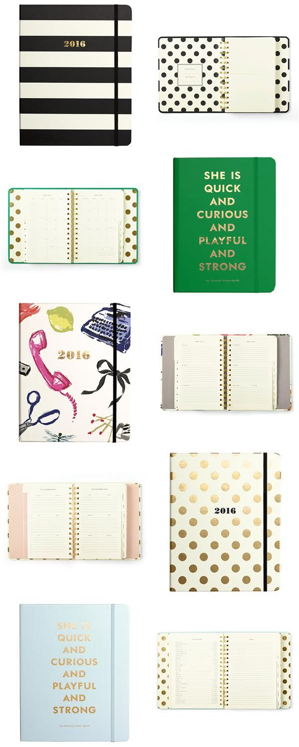 NEW 2016 Kate Spade Planners in the Shop! Aug 2015 - Dec 2016 - Best Planners Ever | The TomKat Studio Shop