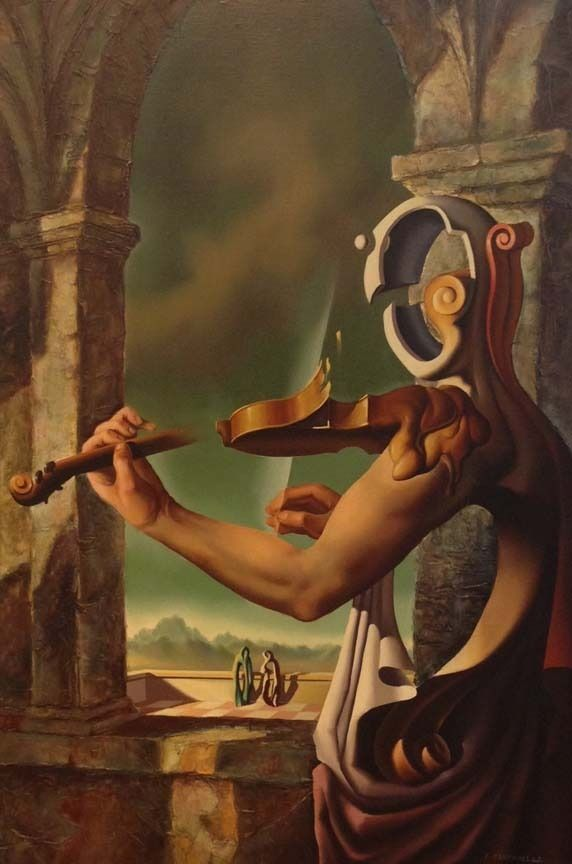 Vito Campanella ( 1932-2014 ) was an Italian-Argentine painter, known for working in the Surrealism  style. Campanella was born in Monopol...