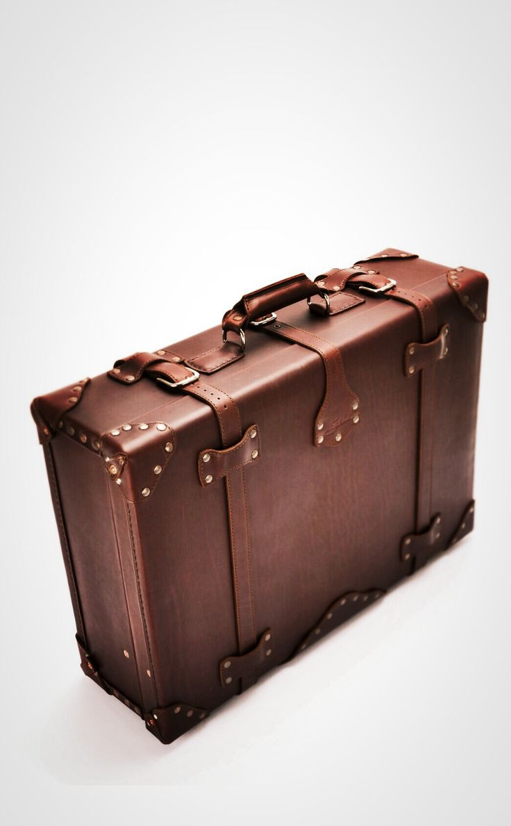 For Travel and Decoration | Saddleback Leather Suitcase in Chestnut | 100 Year Warranty | $1,055.00