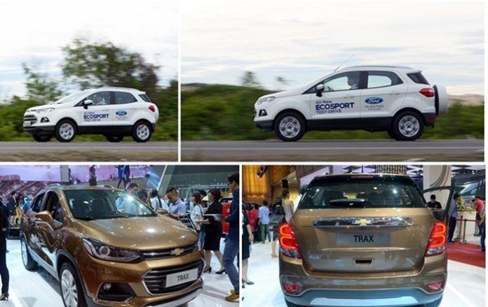 So sánh xe Chevrolet Trax 2017 với xe Ford Ecosport 2016
