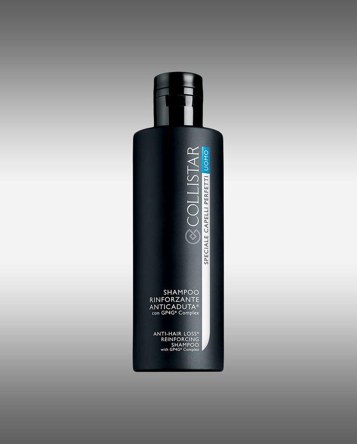 Collistar shampoo uomo rinforzante anticaduta per capelli deboli. Può essere usato quotidianamente, agisce a 360° rinforzando e potenziando l'ancoraggio.
