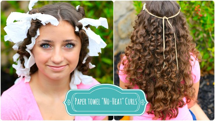 No heat paper towel curls--I wonder if the same procedure could be used to tame crazy natural curls?
