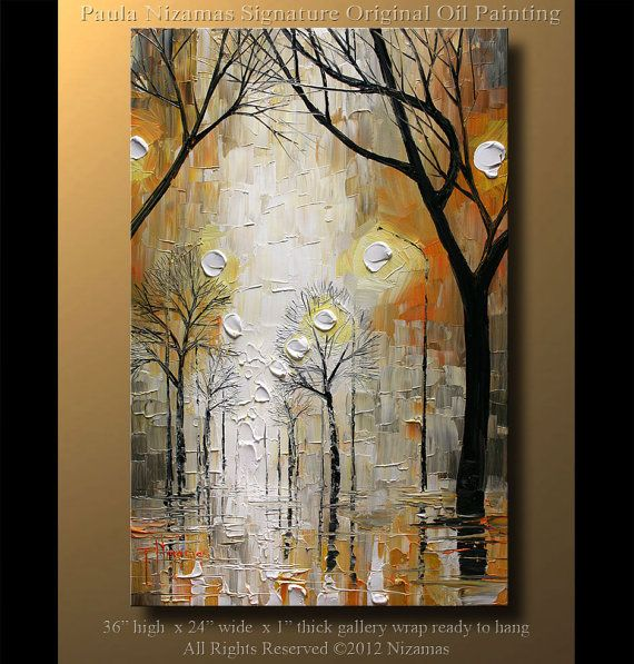 ORIGINAL Signed Modern Palette Knife Oil Abstract by Artcoast