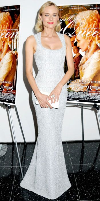Diane Kruger looked flawless in her body conscious design.