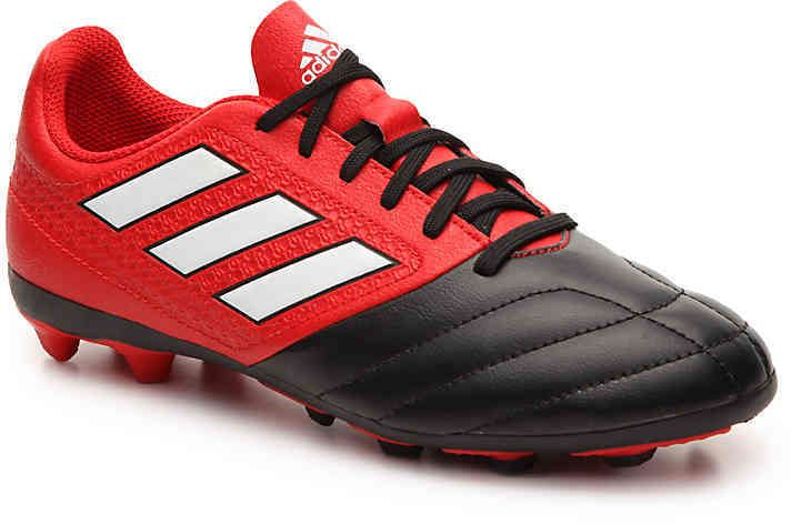 adidas Boys Ace 17.4 FXG Toddler & Youth Soccer Cleat -Red
