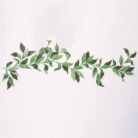 Elegant Fruit Branch Stencil