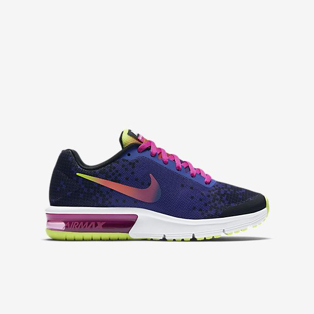 Nike Air Max Sequent Print (3.5y-7y) Kids' Running Shoe