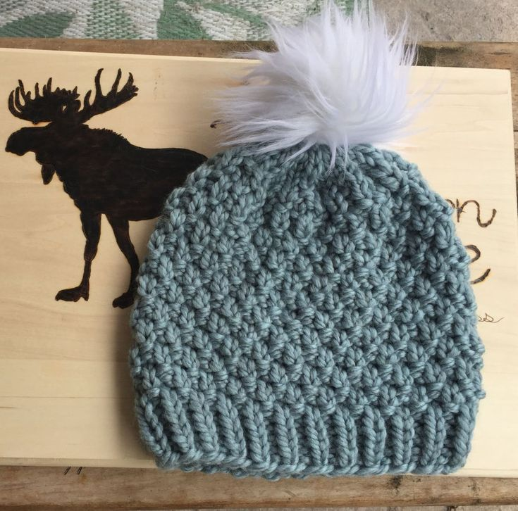 d81c3e25f0ab8 Free knitted hat pattern, seed stitch | Knitting-Head Covers | Baby ...