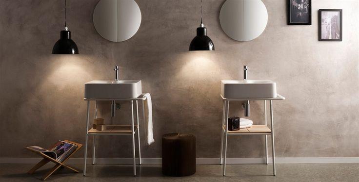 #Fuji di @pinterestscarab è una consolle per lavabo dal #design essenziale. La struttura minimale richiama lo stile industriale, è dotato di pratici piani d'appoggio ed attacca panni. Gestisci lo spazio in maniera pratica e dona personalità al tuo #bagno -  www.gasparinionline.it - #arredobagno #arredamento #idee #bathroomideas #lavabo #interiordesign #inspiredaily #lifestyle
