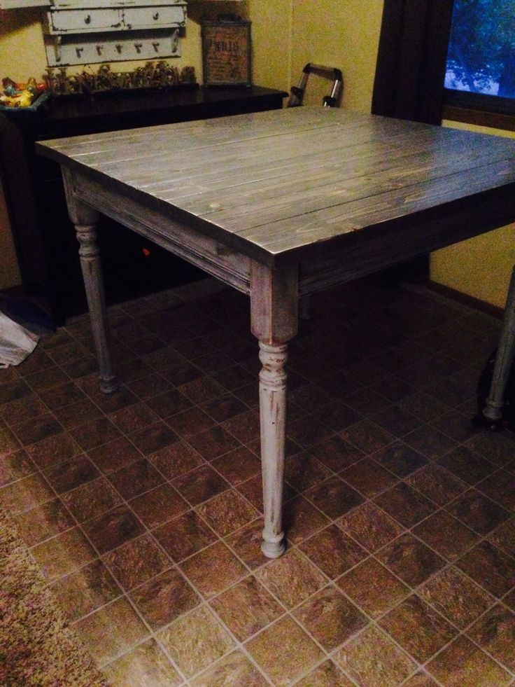 Counter Height Farm Table : Diy counter height farmhouse table DIY Pinterest Farmhouse table ...