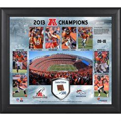 Denver Broncos 2013 AFC Champions Framed 15 X 17 Collage Limited