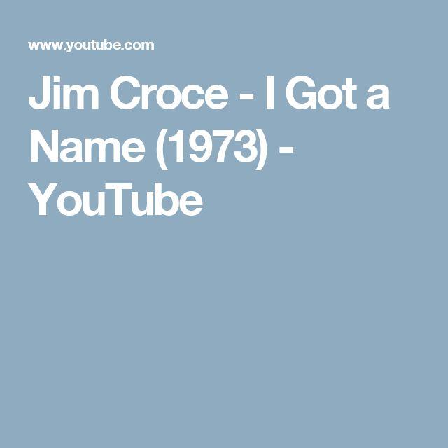 Jim Croce - I Got a Name (1973) - YouTube
