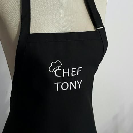 """Personalized Men's Apron with """"Chef and Name"""" - Mens aprons, mens grilling apron, mens tall aprons, mens BBQ aprons by SouthernA on Etsy"""