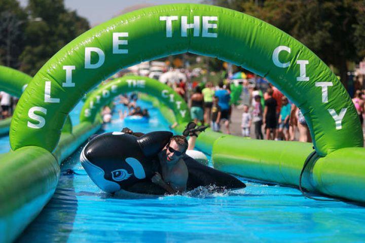 'Slide the City' bringing giant slip-and-slide event to Fayetteville | Fayetteville Flyer