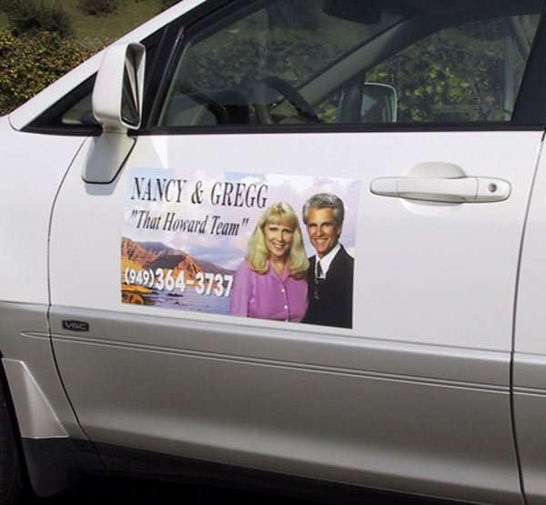 Real Estate Magnetic Signs. Magnetic signs for your car, truck or van. Any size, any shape any color. See http://www.orangecountysigns.com/Magnetic-Car-Signs.html for more info on our Car door magnets.