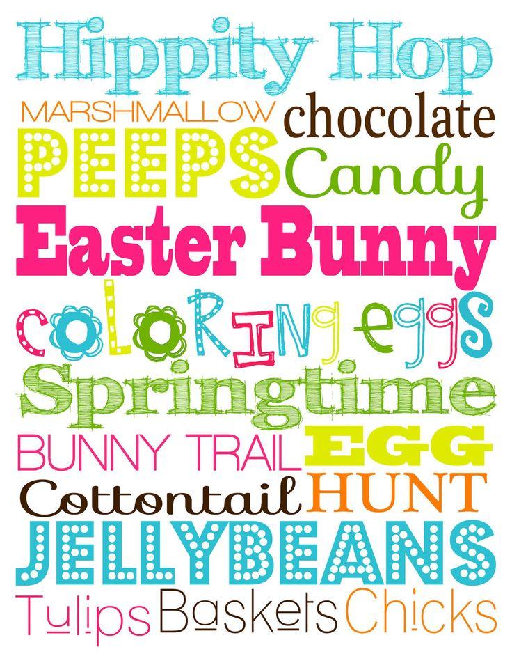 Easter Subway Art {Free Download}  #Eastersubwayart