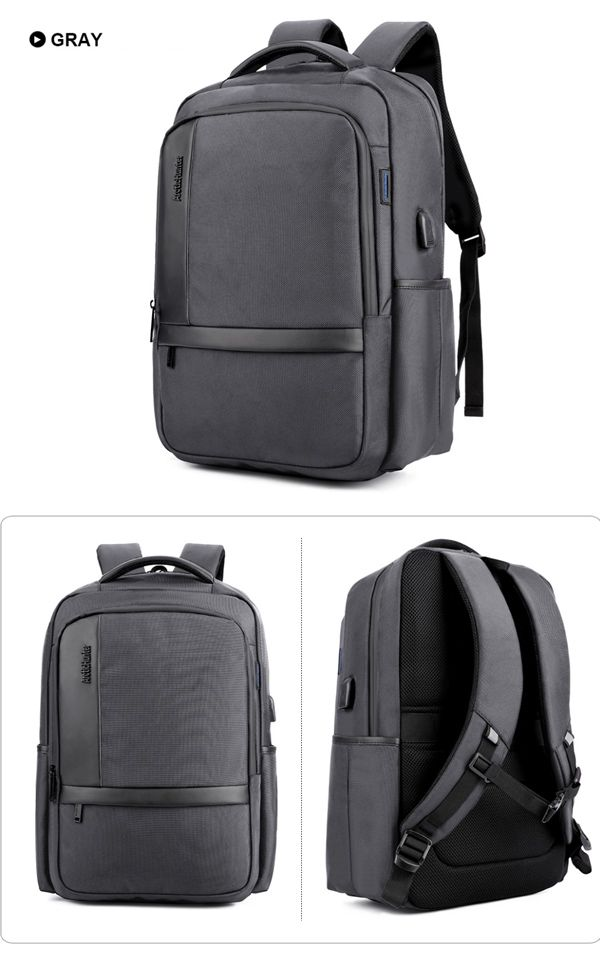 Men 18 inch Anti Shock Waterproof Backpack Casual Travel Bag With USB Charging Port & Headphone Hole