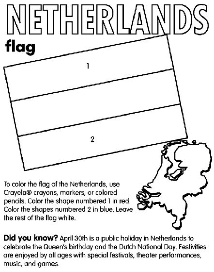 Netherlands coloring page