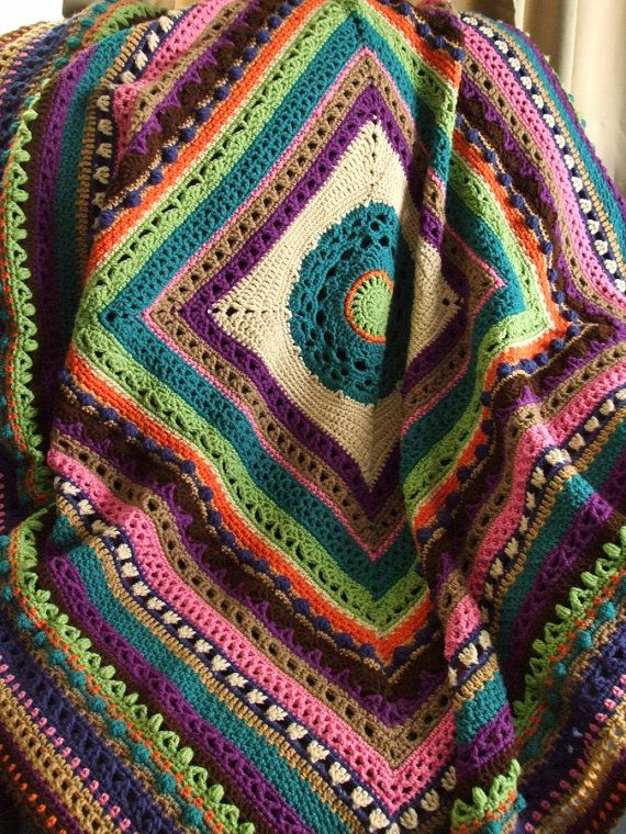 811 best Crochet-Afghans images on Pinterest | Crochet blankets ...